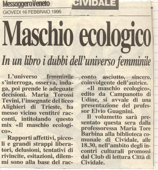 recensione Maschio ecologico: in un libro i dubbi dell' universo femminile