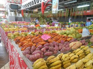 Papeete frutta al mercato